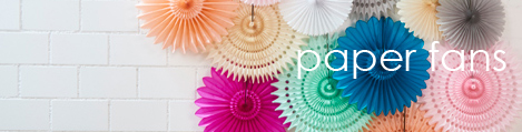 shop party backdrop paper fans