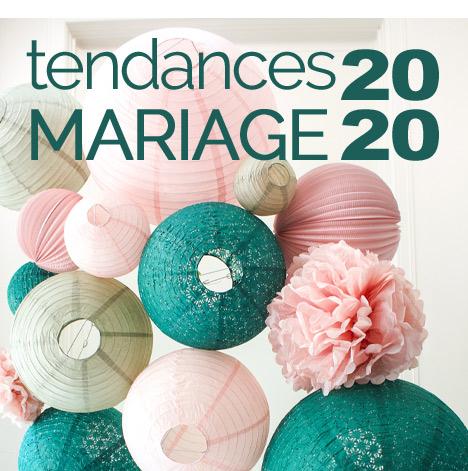 tendances déco mariage 2020