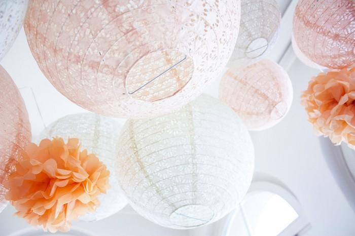 Ciel de lanternes et lampions pêche pour un mariage