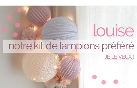 lampions rose pastel pour décoration chambre