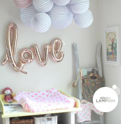 ballon déco LOVE pour chambre