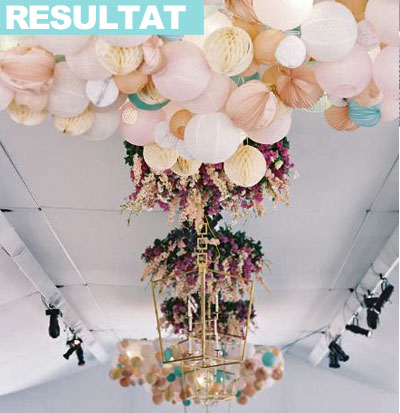 lanternes mariage: accrochage