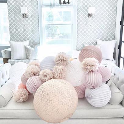 lanternes rose pour décoration de mariage