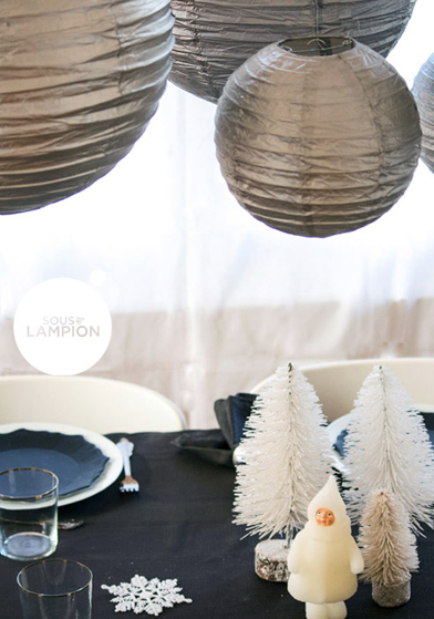 décorations de Noël argenté - Sous Le Lampion