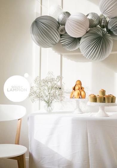 Décoration blanc et argent pour Noël - Sous Le Lampion