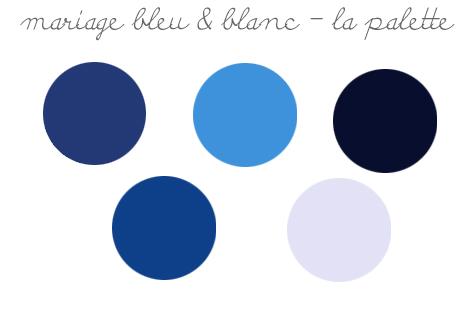 tendances décorations de mariage 2019: bleu