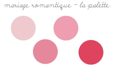 tendances décorations de mariage 2019: palette rose