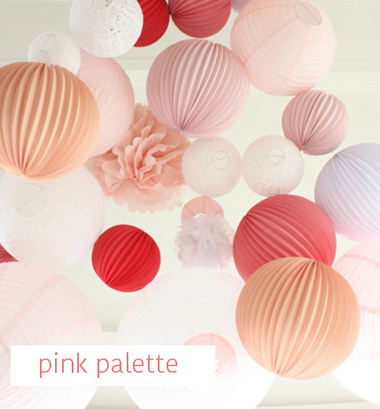 pink palette wedding decoration