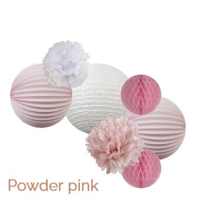 Pink paper lanterns for nursery