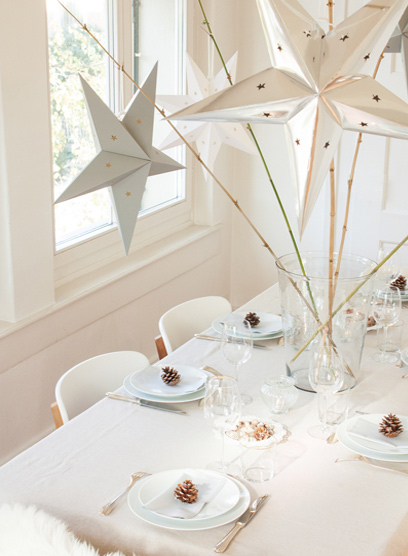 Etoiles déco pour décorer une table de Noël ou de réveillon