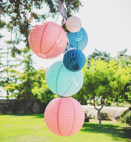 Lanterne mariage pour décor de jardin