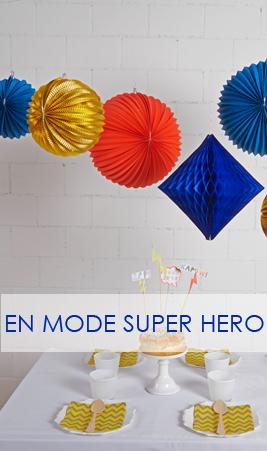 lot de décoration pour une fête super-héros