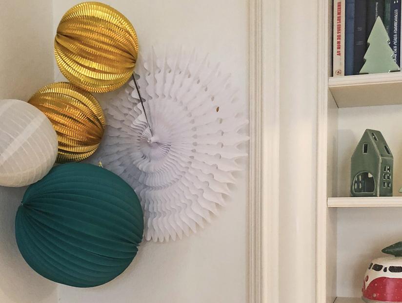 décoration vert et or pour Noël